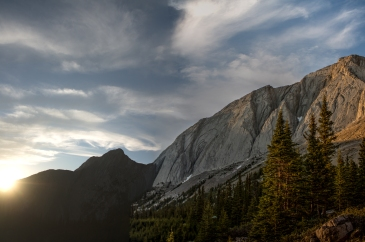 Mount Colin during the golden hour.