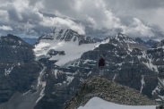 From Eiffel Peak, Mount Fay and the Fay Glacier. This is a common approach to the Neil Colgan Hut.